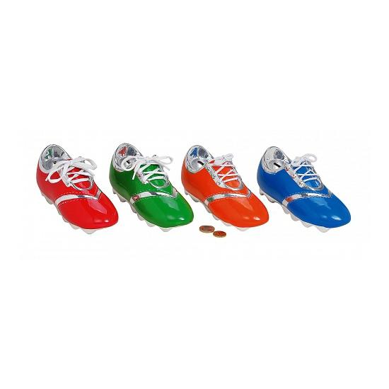 Groen voetbal schoen spaarpotje