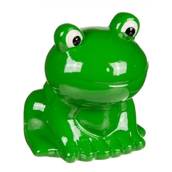 Groene kikker spaarpot 8 cm
