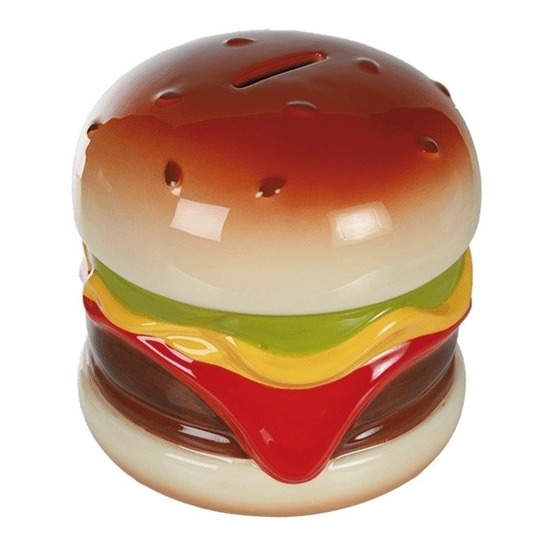 Hamburger spaarpotten 14 cm