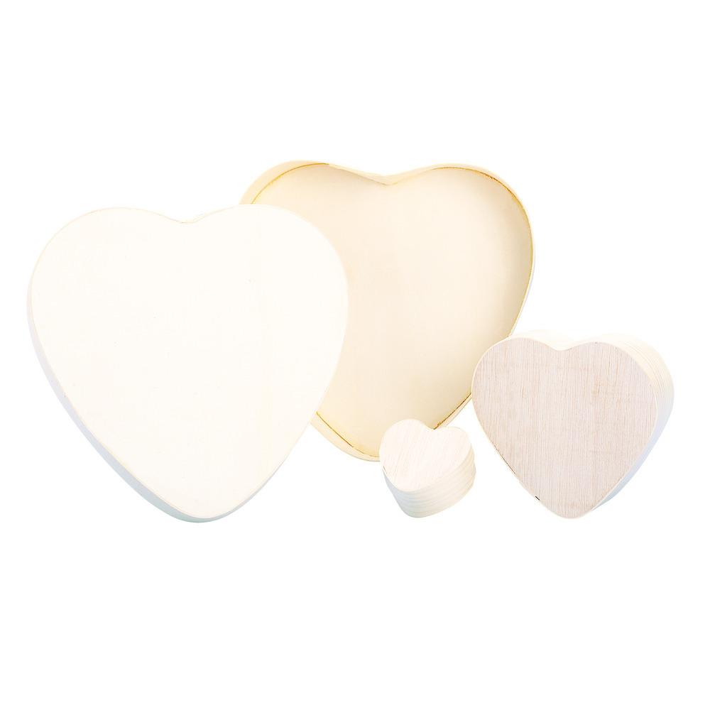 Hartvormig doosje van hout