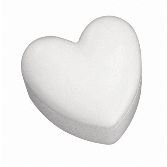 Hartvormig doosje van piepschuim 15 cm
