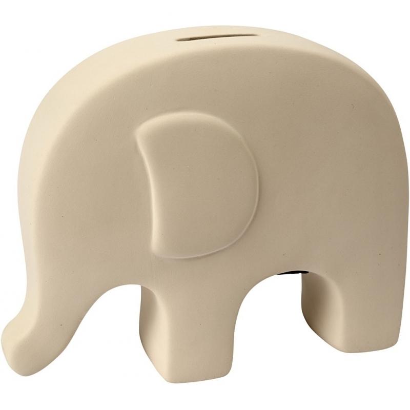 Hobby spaarpot olifant wit zelf inkleurbaar