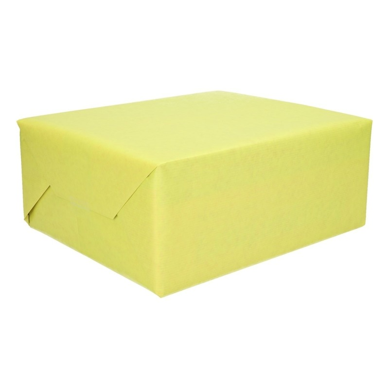 Inpakpapier/cadeaupapier dubbelzijdig groen/roze 200 x 70 cm
