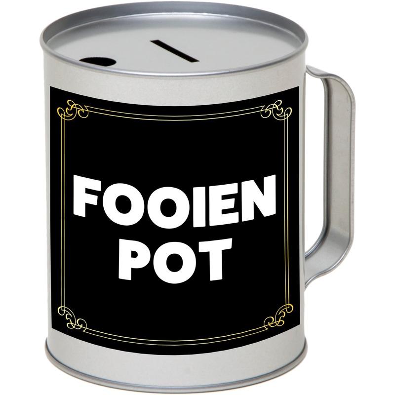 Inzamel fooienpot/fooienbus/fooien collectebus 10 x 13 cm