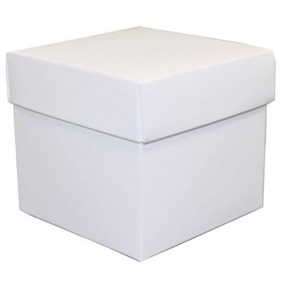 Losse witte cadeaudoosjes/kadodoosjes 10 cm vierkant