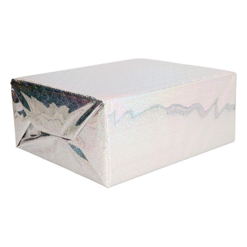 Metallic zilver kadopapier folie 70 x 150 cm