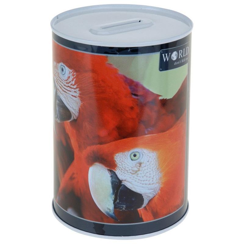 Papegaaien spaarpot 15 cm