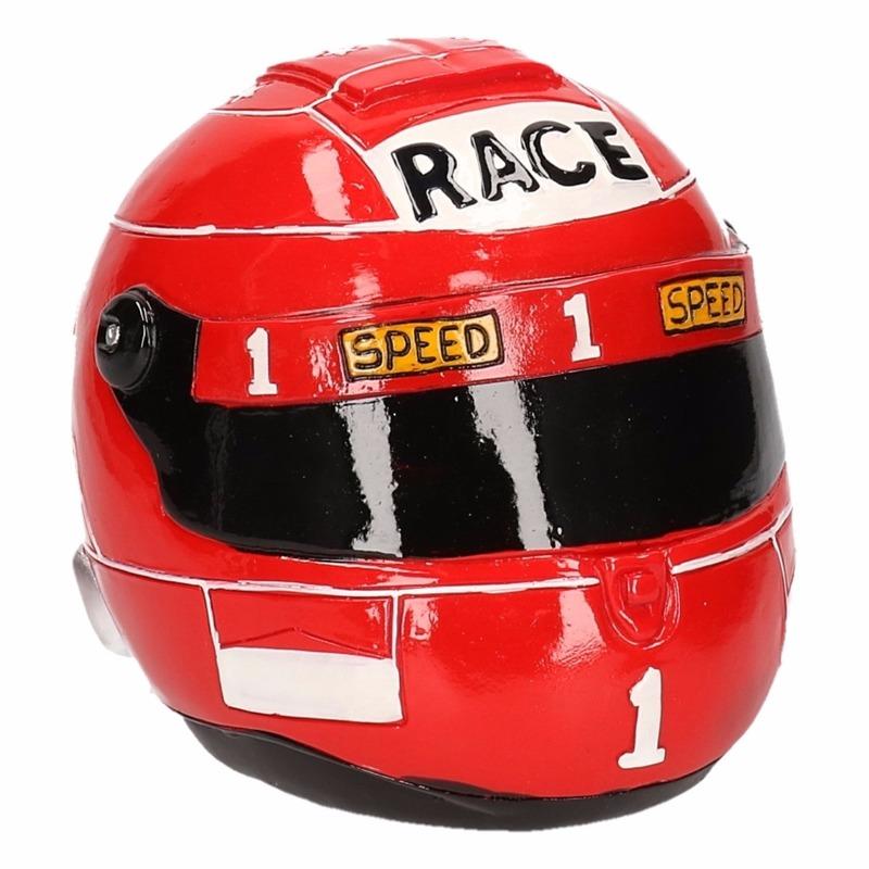 Rode race helm spaarpot