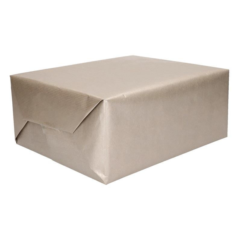 Rollen Zilver kraftpapier/Inpakpapier 70 x 200 cm