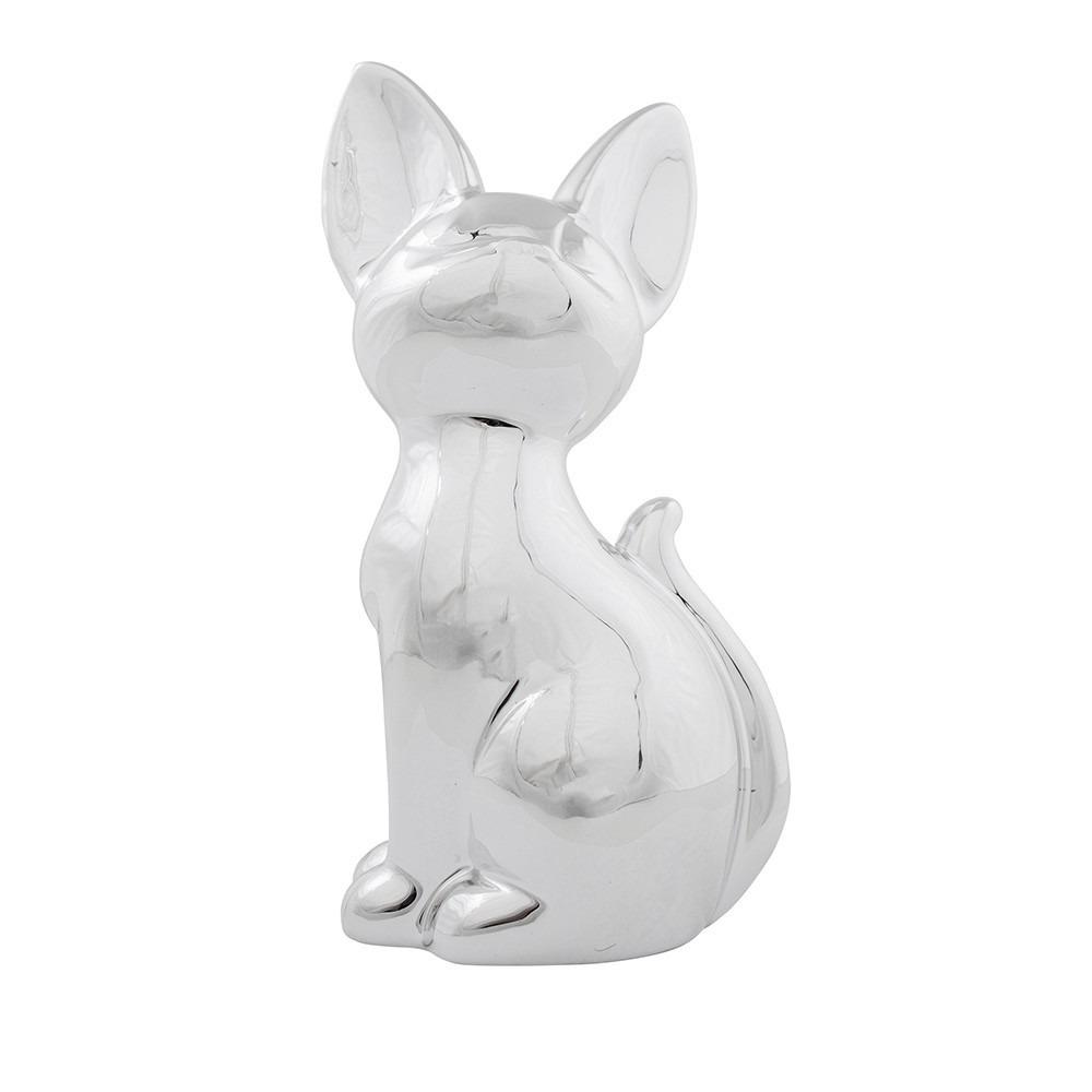 Siamese katten/poezen dieren spaarpot zilver 21 cm