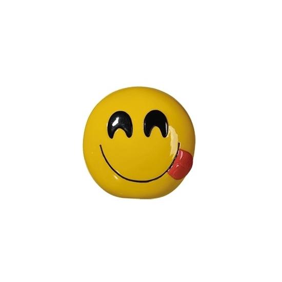 Smiley tong spaarpot 13 cm