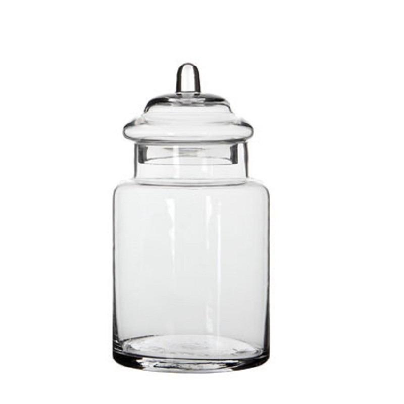 Snoeppot / bewaarpot van glas met deksel 22 x 13 cm