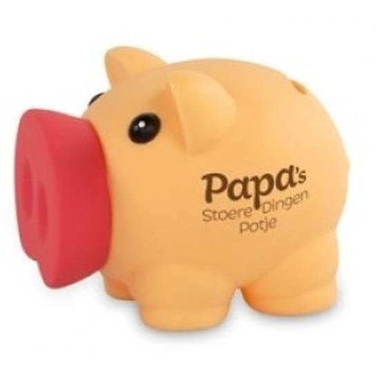 Spaarpot varken/big papa/vader stoere dingen potje