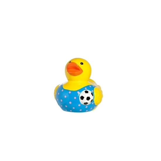 Spaarpot voetbal badeend porselein 12cm