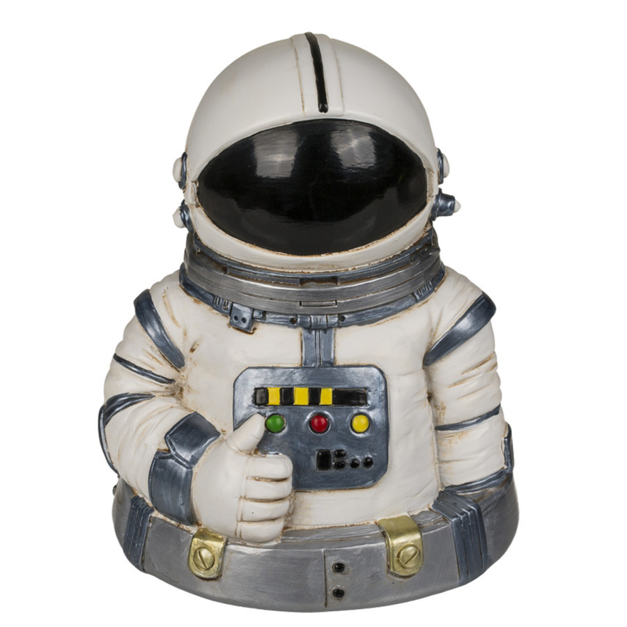 Spaarpotten ruimtevaart astronaut 13 x 10 cm