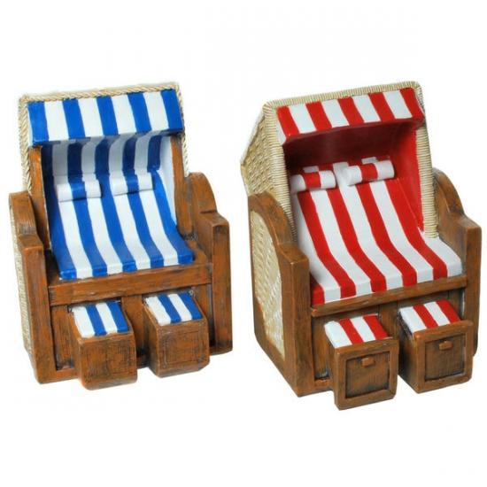 Stenen spaarpot strandstoel