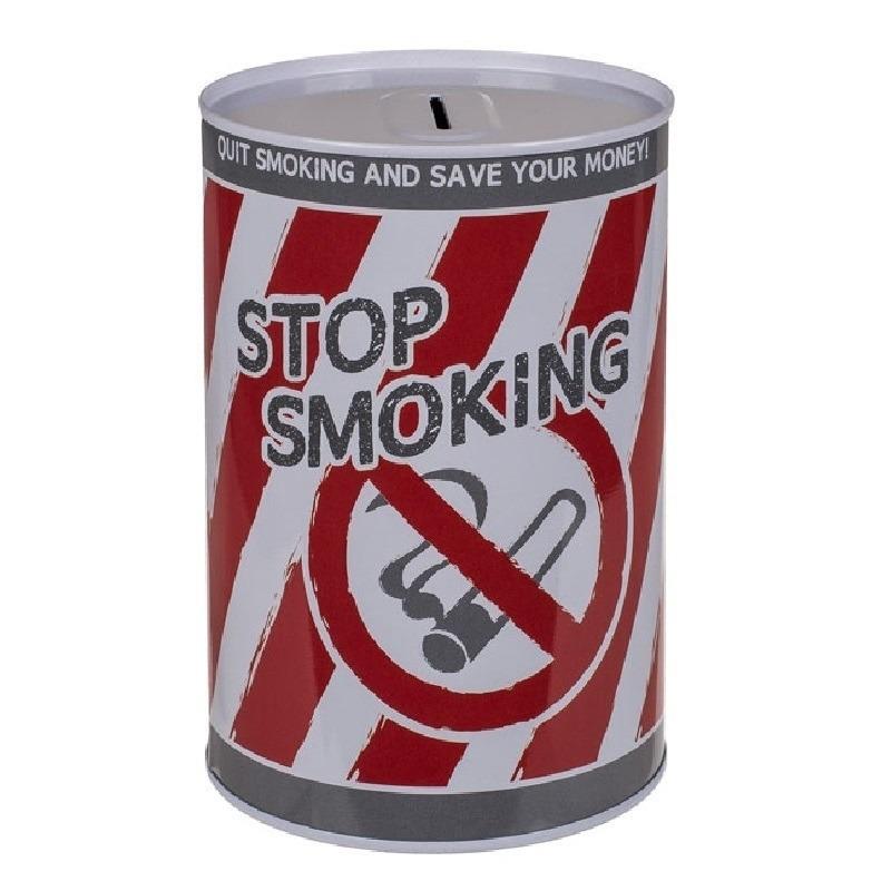 Stoppen met roken spaarpotje 10 x 15 cm