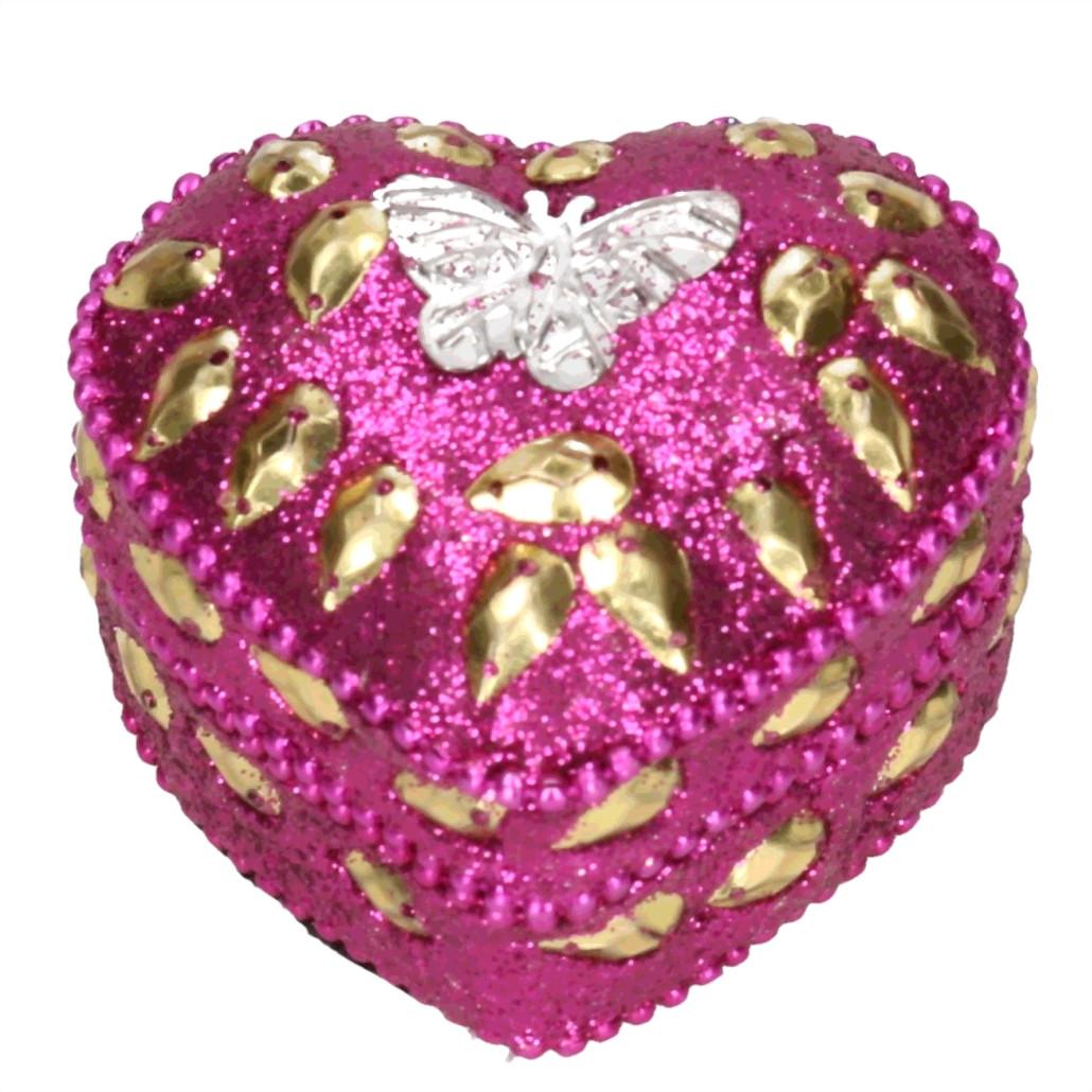 Vlinder tandendoosje roze 6 cm