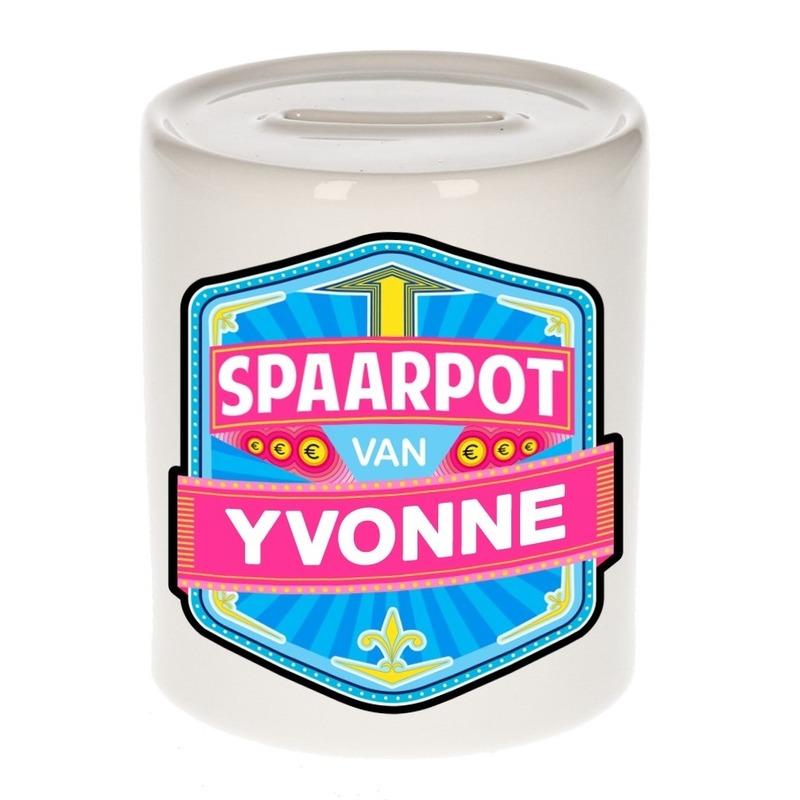 Vrolijke kinder spaarpot voor Yvonne
