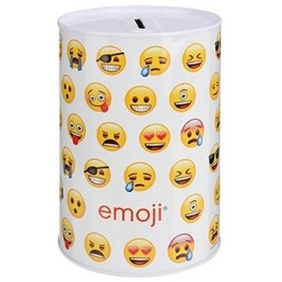 Witte emoji spaarpot 10 cm type 3