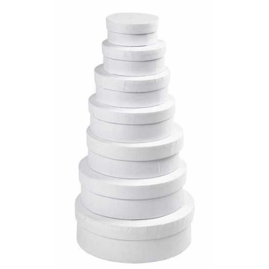 Witte kado verpakking hoedendoos 16,5 cm