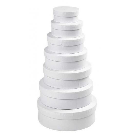 Witte kado verpakking hoedendoos 8,5 cm